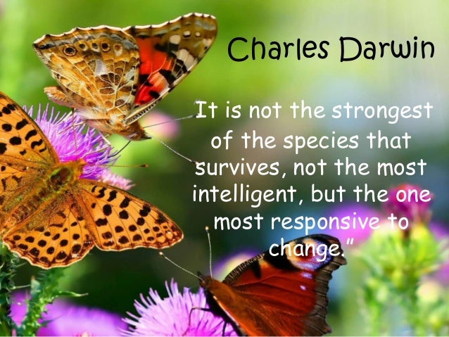 """Charles Darwin """"It is not the strongest of the species that survives, not the most intelligent, but the one most responsiv..."""