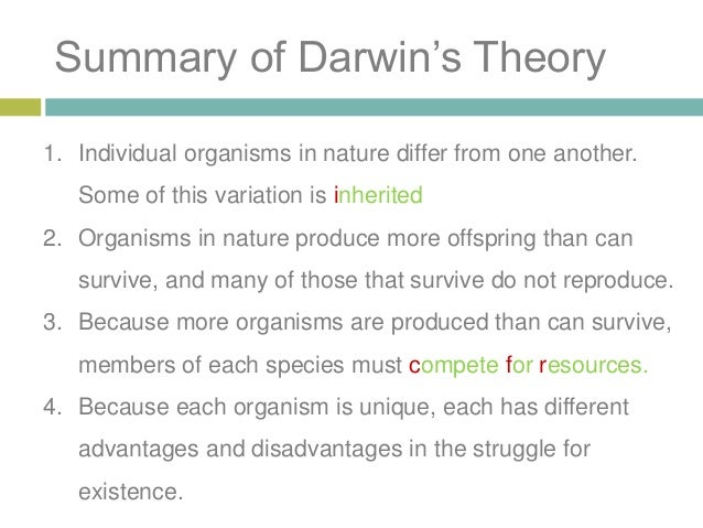 an overview of charles darwins theory of evolution At least while youre alive thats mostly because most black holes are too 25-7-2011 hybridization is a phenomenon that can an overview of darwins theory of evolution.