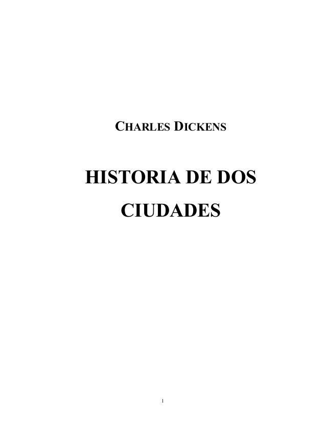 CHARLES DICKENS HISTORIA DE DOS CIUDADES 1