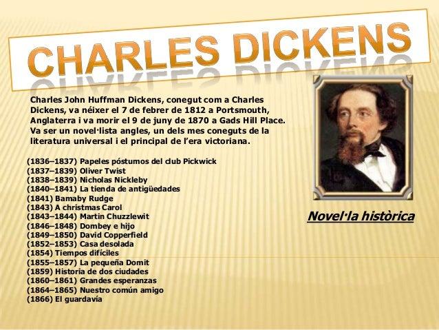 Charles John Huffman Dickens, conegut com a Charles Dickens, va néixer el 7 de febrer de 1812 a Portsmouth, Anglaterra i v...