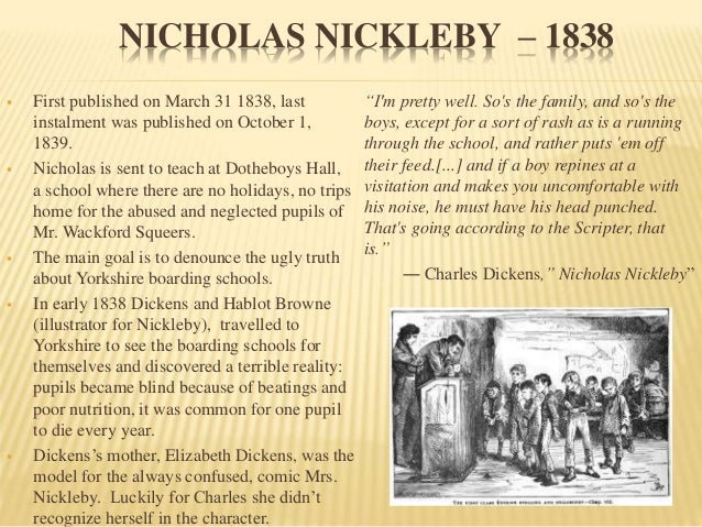 charles dickens assignment Charles dickens was a famous writer during the 1800's in england his works have moved many people, and they are still read today this is a timeline of his life.