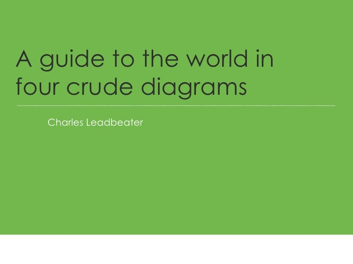 Charles Leadbeater A guide to the world in four crude diagrams