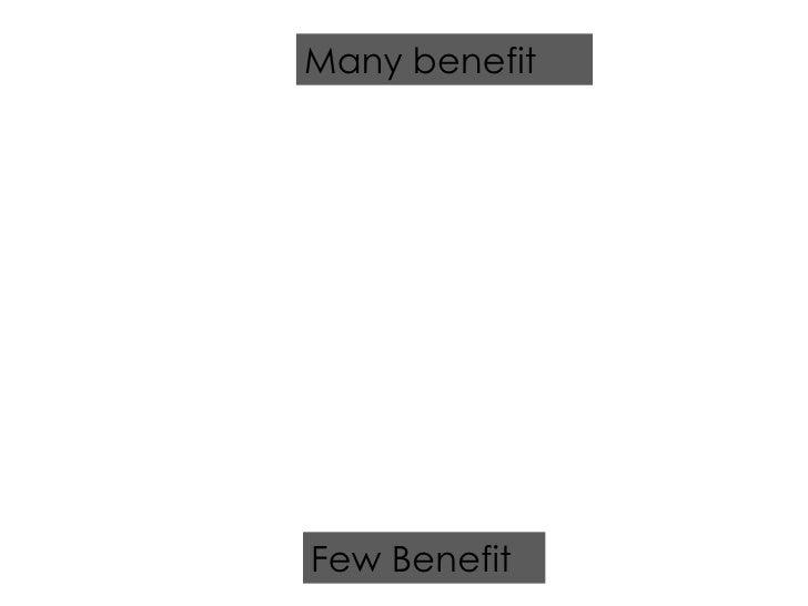 Few Benefit Many benefit