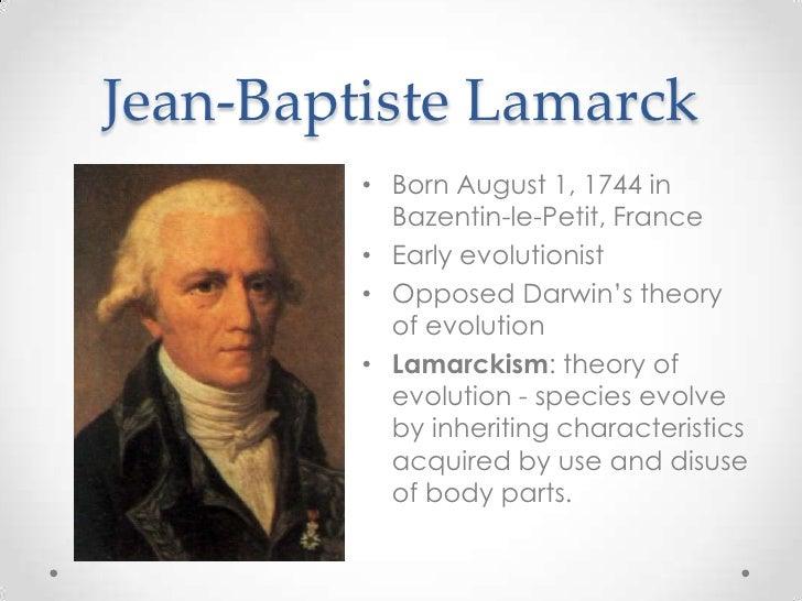 theories of evolution of jean-baptiste de lamarck biography