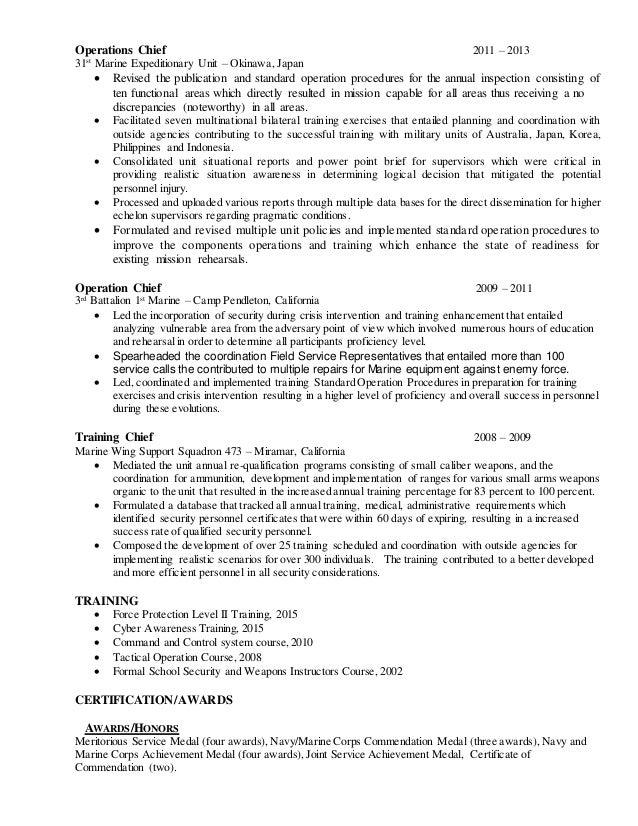Charles Operations Supervisor Resume 18 June 16