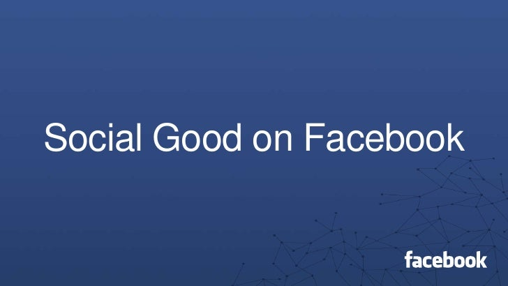 Social Good on Facebook<br />