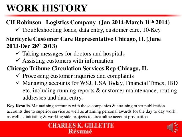 charles resume power point