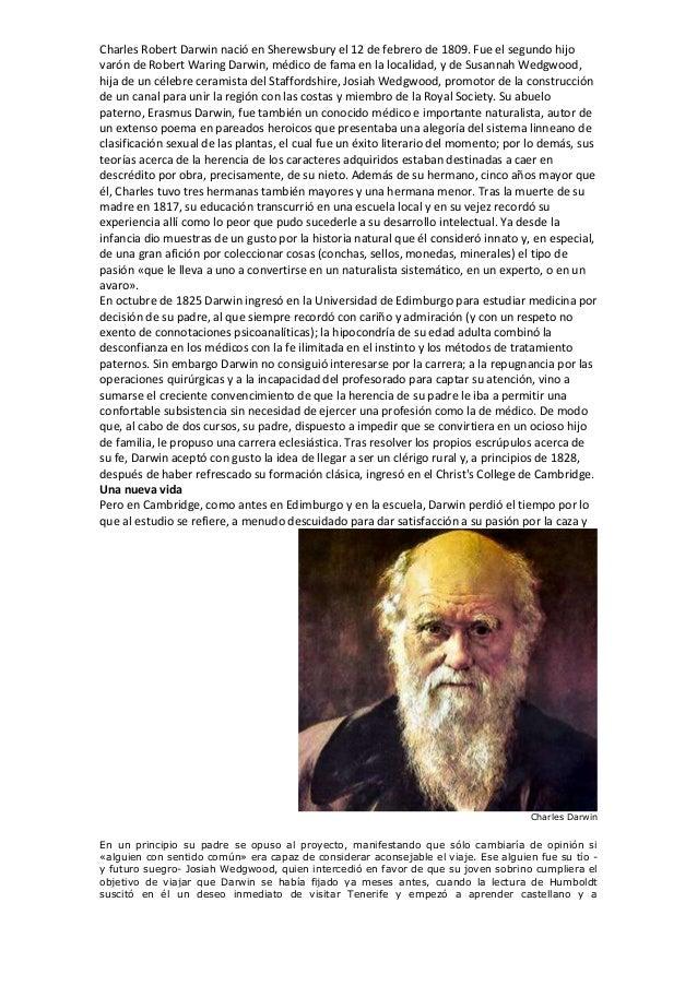 charles robert darwin biografia