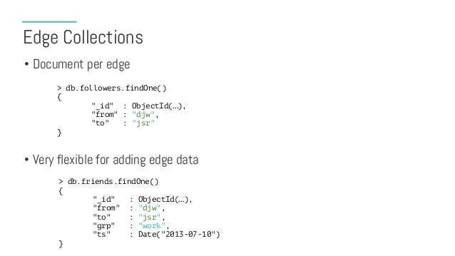 Edge Collection Indexing Strategies