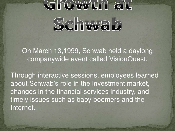 charles schwab co inc in 1999 Charles schwab bank collective trust funds  1973 charles schwab & co, inc founded  1999 schwab institutional trust funds.