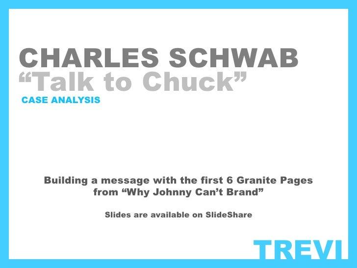 Charles schwab case study solution