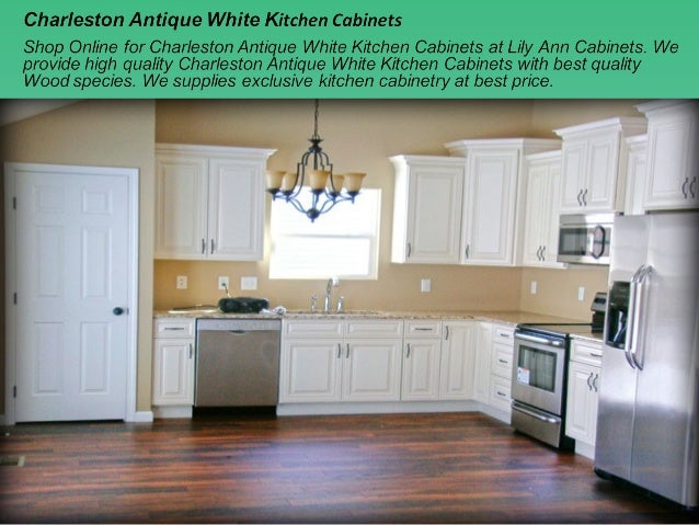 Charmant Charleston Antique White Kitchen Cabinets; 2.