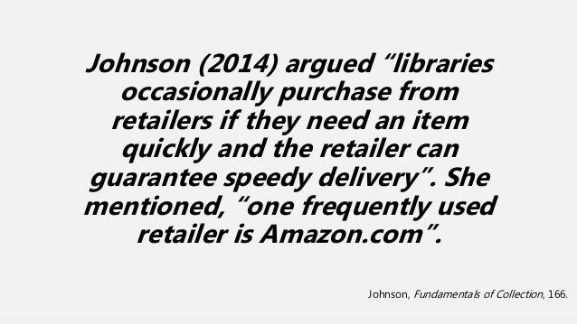 Amazon.com Vs. EBSCO's GOBI Library Solutions: Evaluating