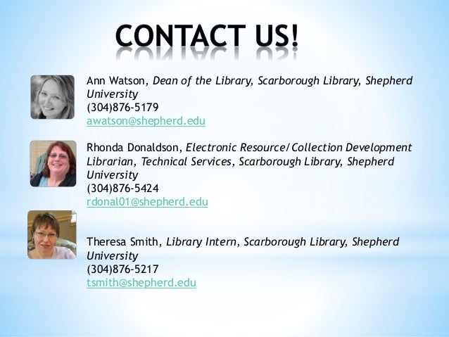 2014 Charleston Conference Presentation: The Importance of Being Resourceful: One Library's Assessment Adventure