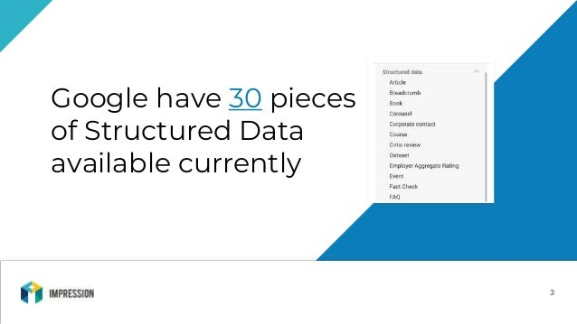 Charlie Norledge - What's New In Structured Data - Brighton SEO Slide 3