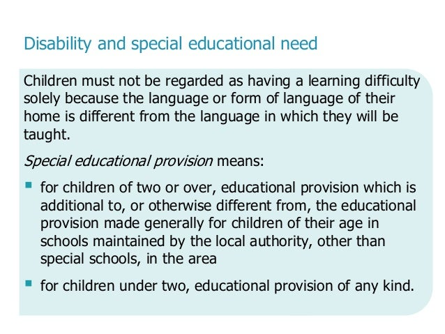 history of special needs provision in Update: this is what i have to do: you need to do some research on special needs provision in ireland during the 1900's up to present time also, look at what was happening in the area of special needs around europe ie salamanca statement and in the uk the warnock report.