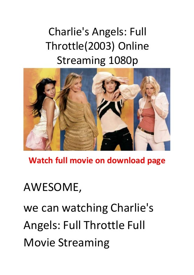 Charlie S Angels Full Throttle 2003 Action Commedy