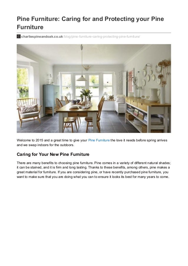Pine Furniture Care Guide