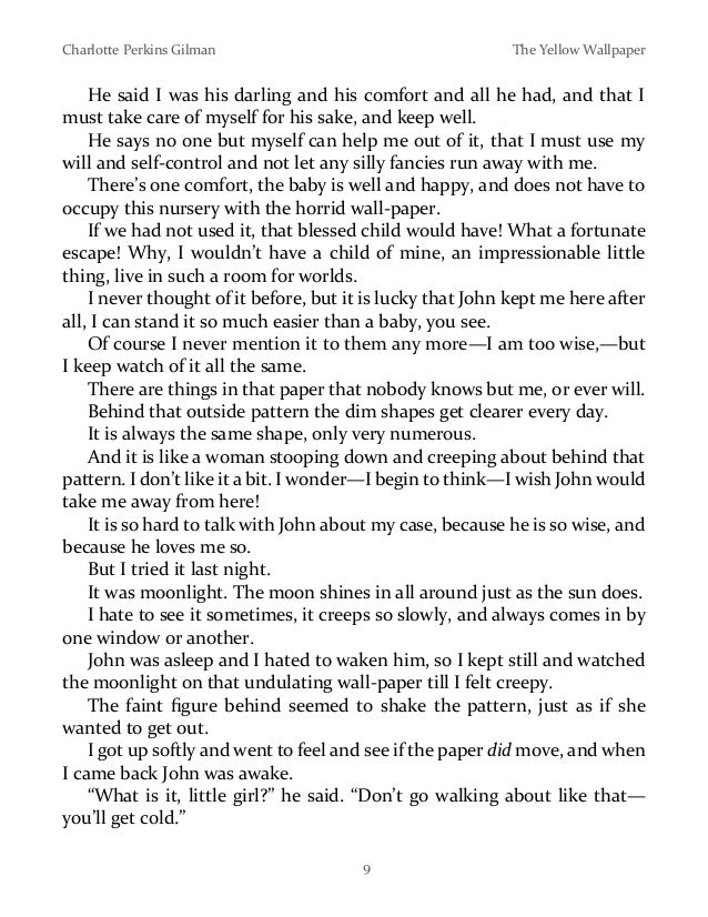 the use of symbols in the yellow wallpaper by charlotte perkins gilman Freebooksummarycom the yellow wallpaper