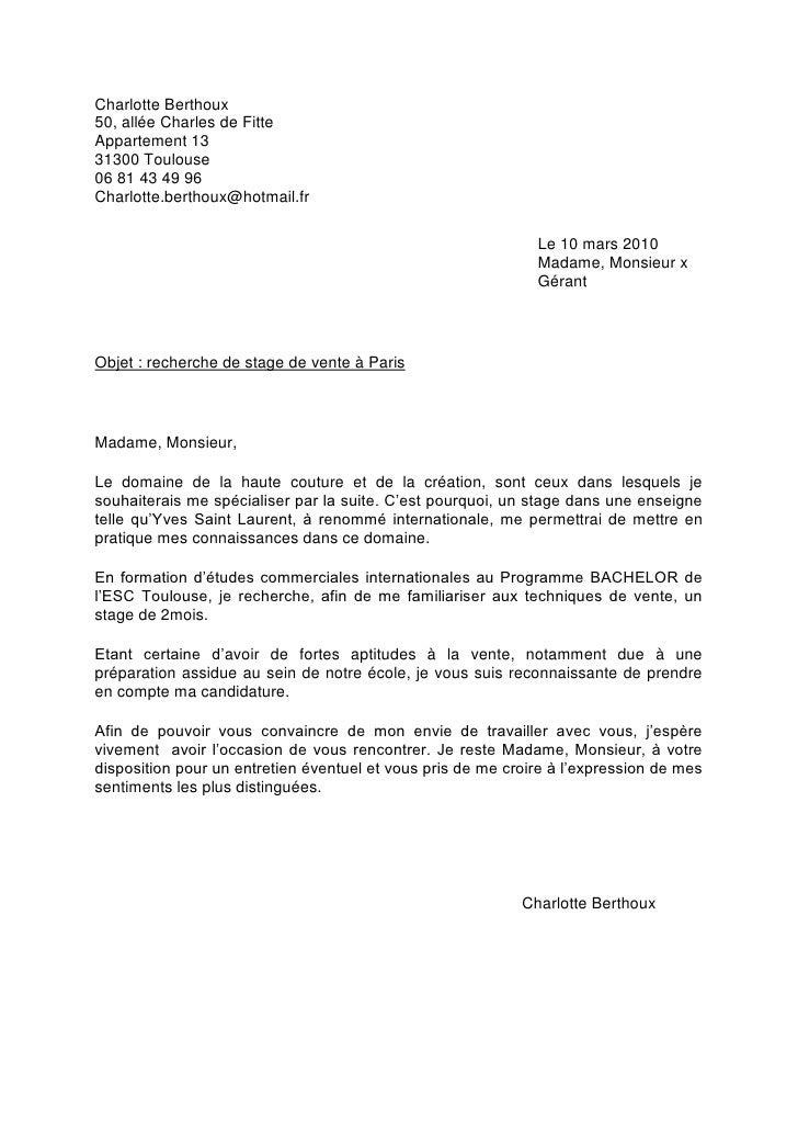 charlotte berthoux lettre motiv