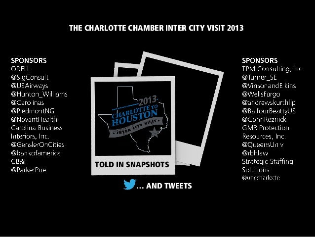 TOLD IN SNAPSHOTS THE CHARLOTTE CHAMBER INTER CITY VISIT 2013 … AND TWEETS