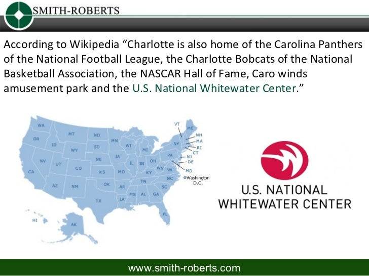 """According to Wikipedia """"Charlotte is also home of the Carolina Panthersof the National Football League, the Charlotte Bobc..."""