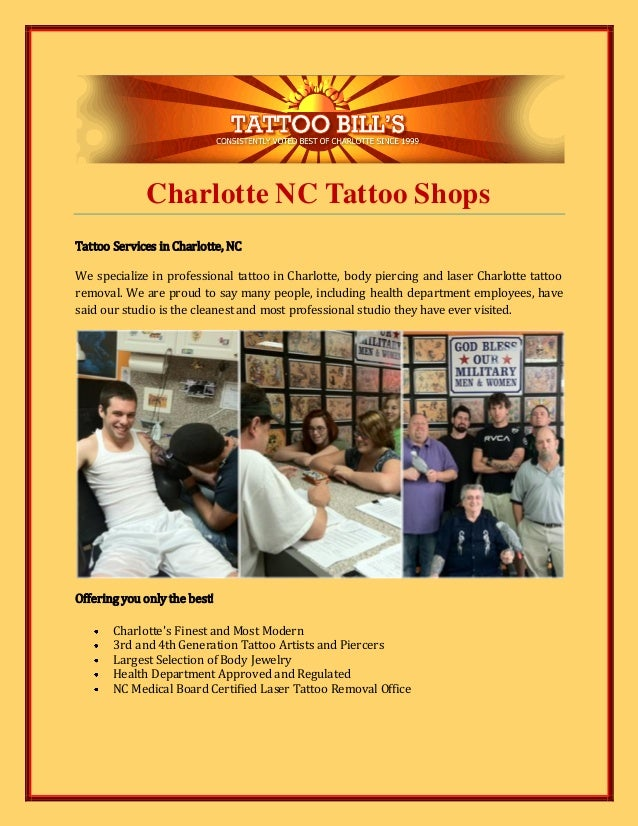 Charlotte nc tattoo shops for Tattoo parlors in charlotte nc