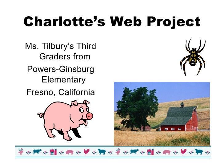 Charlotte's Web Project <ul><li>Ms. Tilbury's Third Graders from </li></ul><ul><li>Powers-Ginsburg Elementary  </li></ul><...