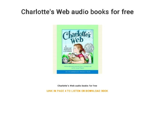 charlotte s web audio books for free