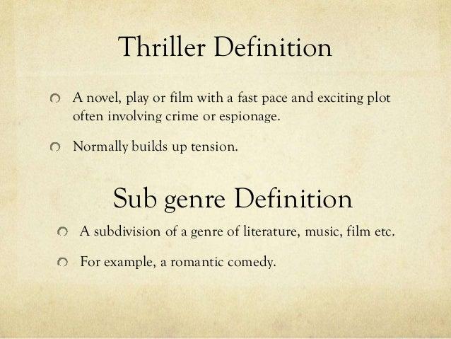 Definition Thriller