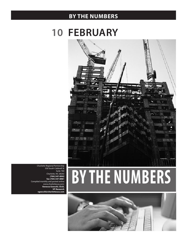 BY THE NUMBERS                        10 FEBRUARY                                            BY THE NUMBERS      Charlotte...