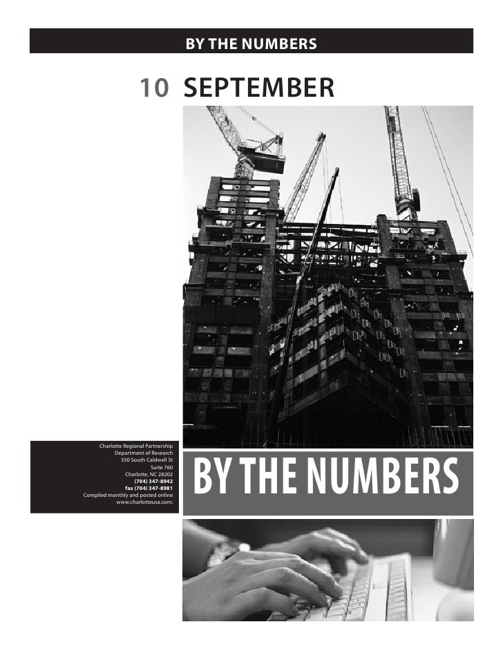 BY THE NUMBERS                        10 SEPTEMBER                                            BY THE NUMBERS      Charlott...