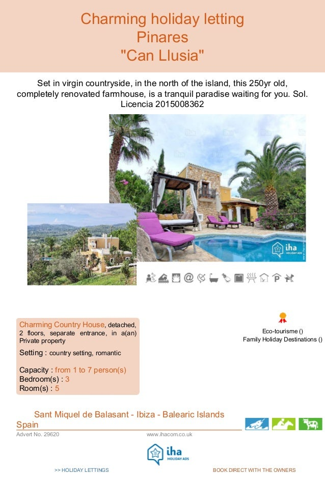>> HOLIDAY LETTINGS BOOK DIRECT WITH THE OWNERS Internet Holiday Ads Internet Holiday Ads www.ihacom.co.ukAdvert No. 29620...
