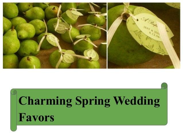 Charming Spring WeddingFavors