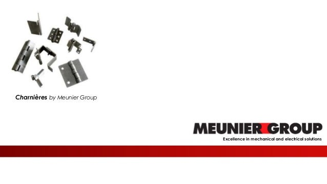 Meunier Excellence in mechanical and electrical solutions Charnières by Meunier Group