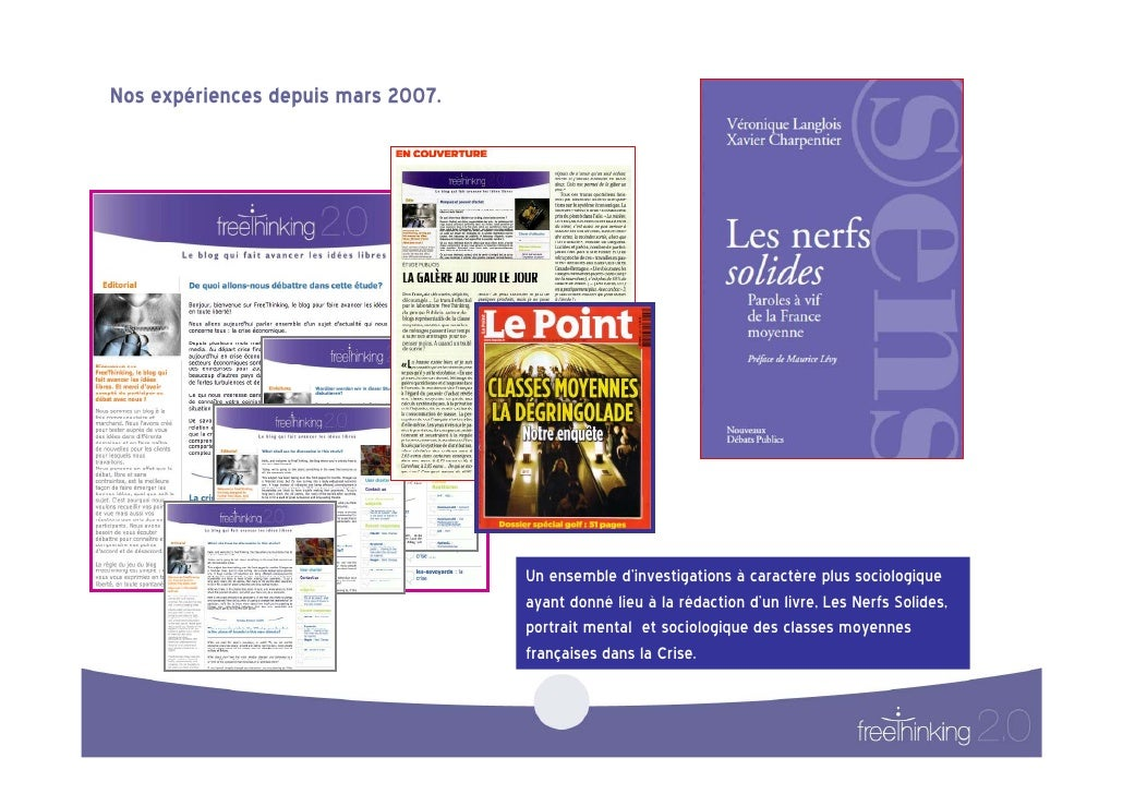 Xavier CHARPENTIER de FREE-THINKING 2.0, Se mettre à l'écoute des bruits de la vie ( PARIS 2.0, Sept 2009) Slide 3