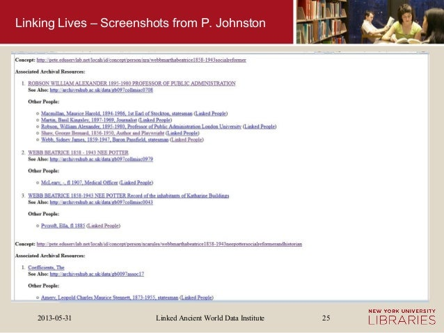 Linked Ancient World Data Institute2013-05-31 25Linking Lives – Screenshots from P. Johnston
