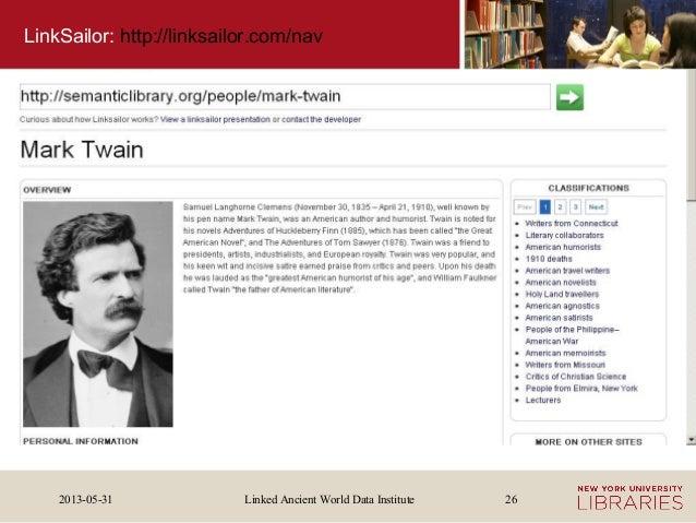 Linked Ancient World Data Institute2013-05-31 26LinkSailor: http://linksailor.com/nav