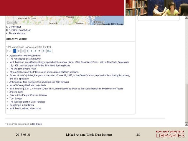 Linked Ancient World Data Institute2013-05-31 28