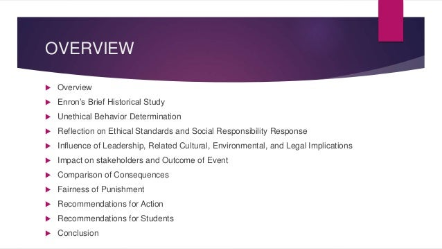 Enron case study summary
