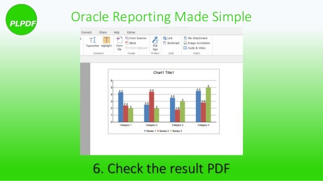 How to create dynamic data charts with PL/PDF