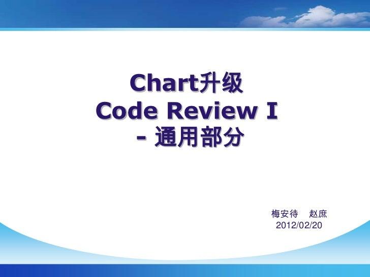 Chart升级Code Review I   - 通用部分            梅安待 赵庶             2012/02/20