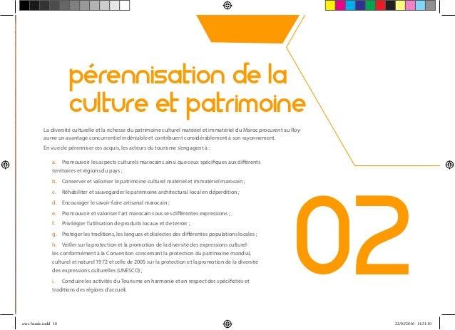 02 pérennisation de la culture et patrimoine La diversité culturelle et la richesse du patrimoine culturel matériel et imm...