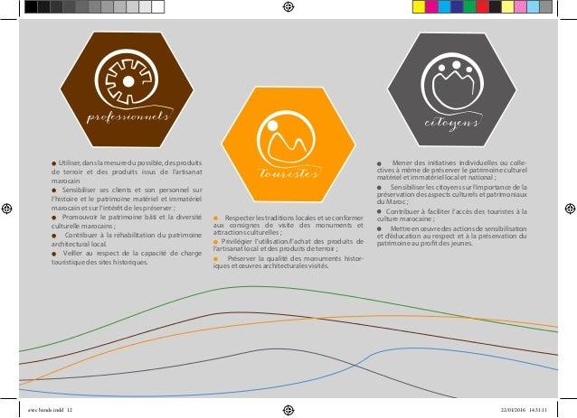 Utiliser, dans la mesure du possible, des produits de terroir et des produits issus de l'artisanat marocain Sensibiliser s...