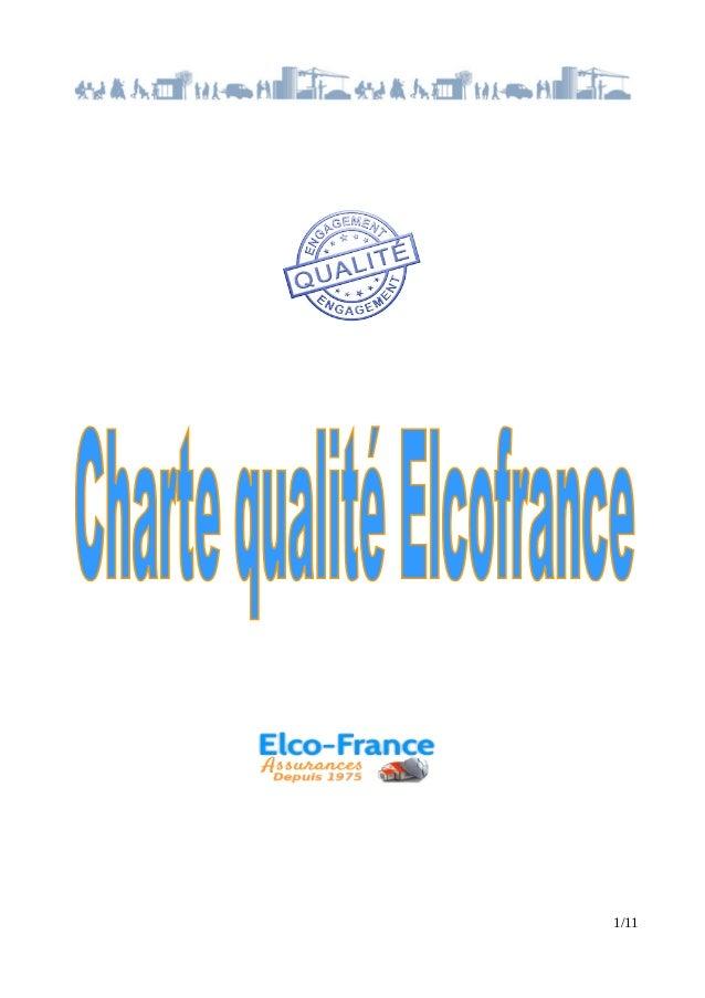 Charte qualité-elcofrance Slide 1