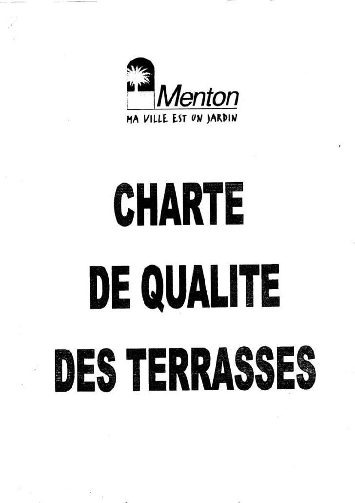 Charte qualité des terrasses restaurant bar UPCRM Menton
