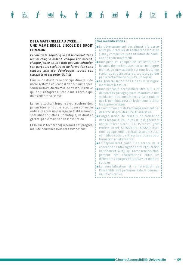 Une aide à la validation  des compétences des élèves  Charte Accessibilité Universelle • 11  L'ENSEIGNEMENT SUPÉRIEUR…  UN...