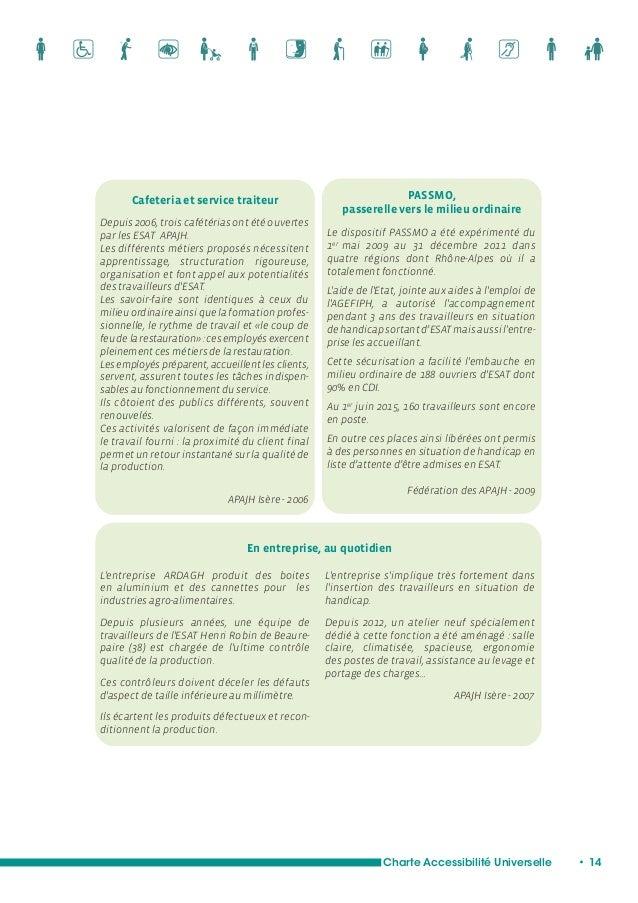 Etre acteur dans le cadre  de démarches administratives  Charte Accessibilité Universelle • 16  Le droit français et la Co...