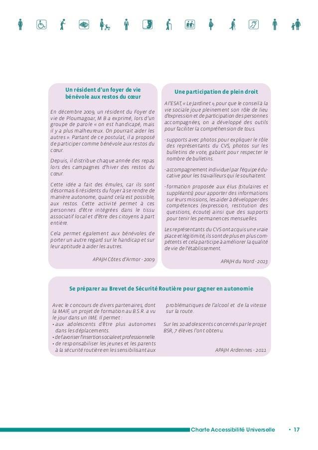 Des liens privilégiés  avec les bailleurs sociaux  Charte Accessibilité Universelle • 19  Mixité sociale et intergénératio...