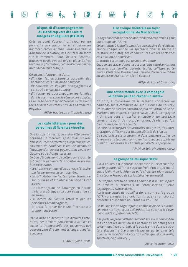 Formation de certains salariés  d'un hôpital à accueillir différents  types de handicaps  Charte Accessibilité Universelle...